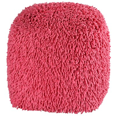 Hohl Shagadelic Chenille Pouf Ottoman Upholstery: Pink