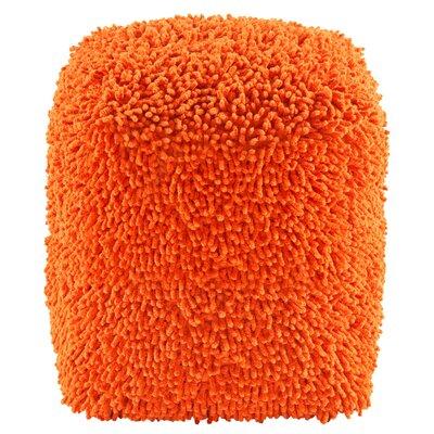 Hohl Pouf Ottoman Upholstery: Orange