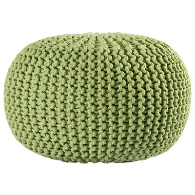 Anemone Rope Upholstered Pouf Ottoman Upholstery: Green