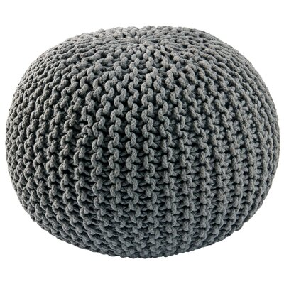 Anemone Rope Upholstered Pouf Ottoman Upholstery: Gray