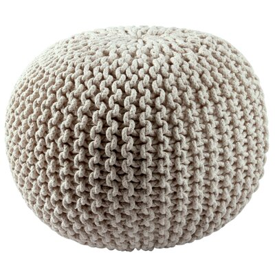 Anemone Rope Pouf Upholstery: White