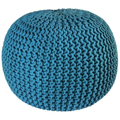 Anemone Rope Upholstered Pouf Ottoman Upholstery: Blue