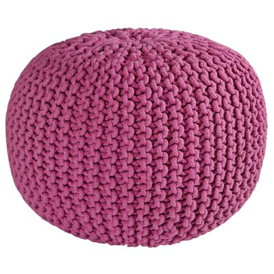 Anemone Rope Pouf Upholstery: Orchid