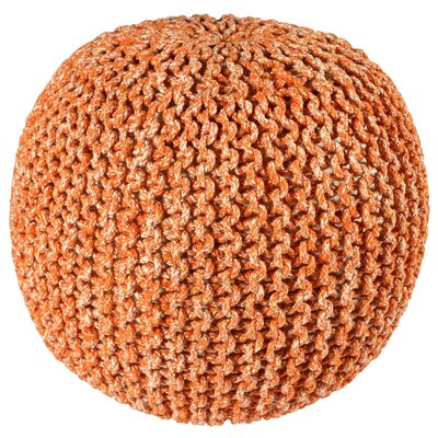 Anemone Rope Pouf Upholstery: Orange