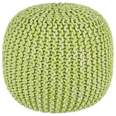 Anemone Rope Round Pouf Ottoman Upholstery: Green