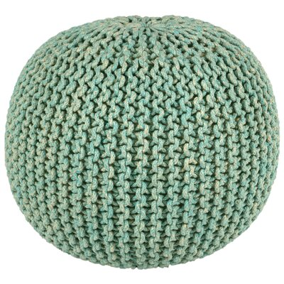Anemone Rope Round Pouf Ottoman Upholstery: Blue