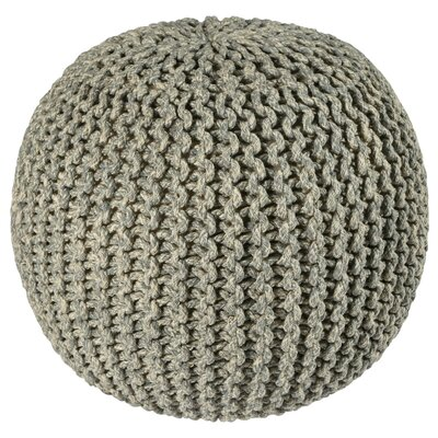 Anemone Rope Round Pouf Ottoman Upholstery: Gray