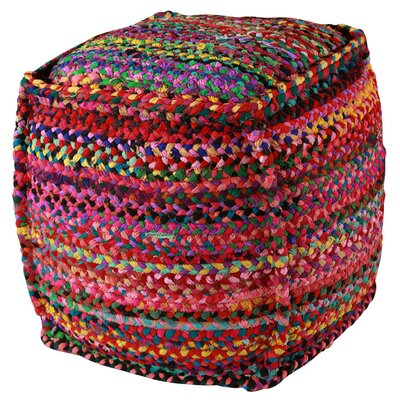 Zephra Brilliant Ribbon Pouf Ottoman