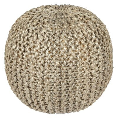 Anemone Rope Cotton Upholstered Pouf Ottoman Upholstery: Natural