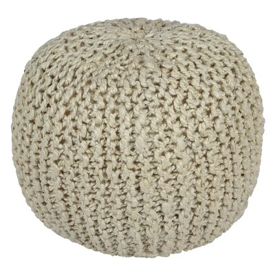 Anemone Rope Pouf Ottoman Upholstery: White