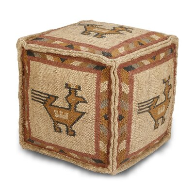 Branchwood Tribal Pouf Upholstery: White