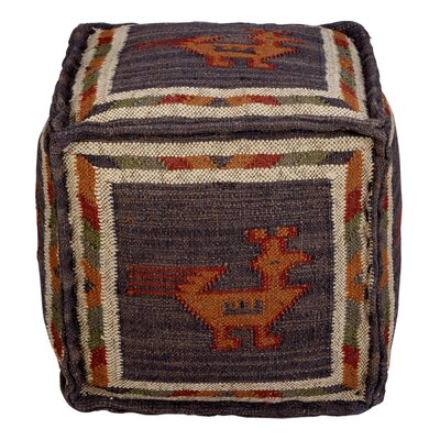 Branchwood Tribal Pouf Upholstery: Blue