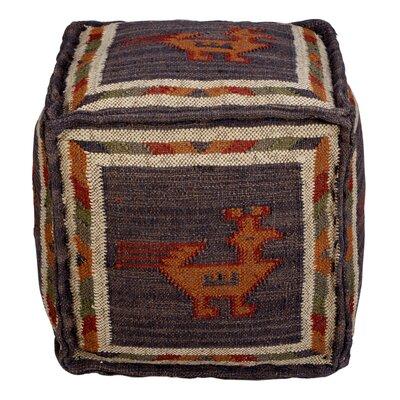 Branchwood Tribal Pouf Ottoman Upholstery: Blue