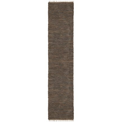 Matador Hand-Loomed Brown Area Rug Rug Size: Runner 26 x 14