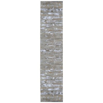 Matador Hand Woven Gray Area Rug Rug Size: Runner 26 x 12