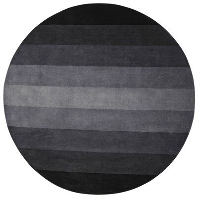 Degarmo Stripes Hand-Tufted Black Area Rug