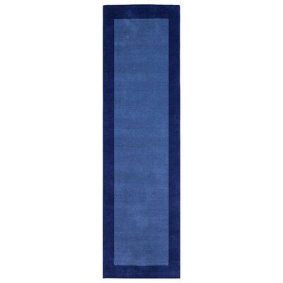 Pulse Blue Border Rug Rug Size: 8 x 10