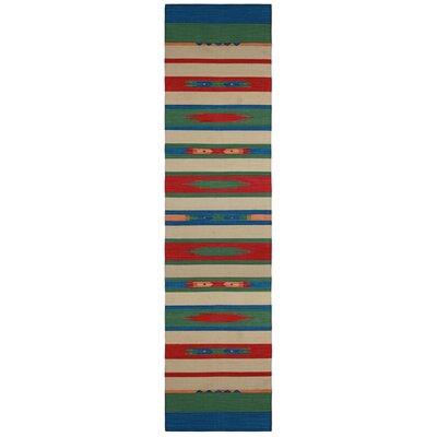 Sedona Hand-Woven Green Area Rug Rug Size: Runner 26 x 12