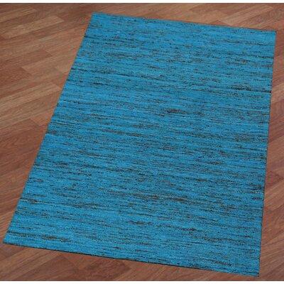 Sari Silk Handmade Aqua Area Rug Rug Size: 4 x 6