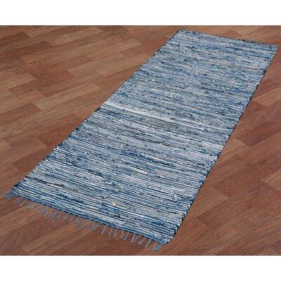 Matador Hand-Loomed Blue Area Rug Rug Size: Runner 2'6