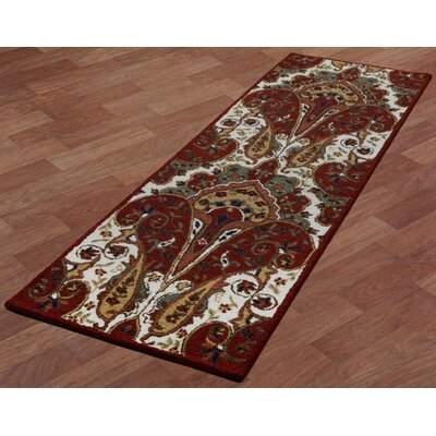 Structure Hand-Tufted Red Area Rug Rug Size: Runner 26 x 8