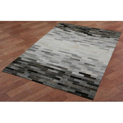 Matador Hair-On Hide Hand-Woven Gray Area Rug Rug Size: 5 x 8