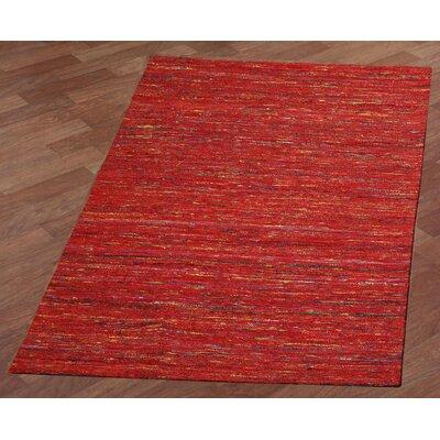 Sari Silk Handmade Red Area Rug Rug Size: 4 x 6