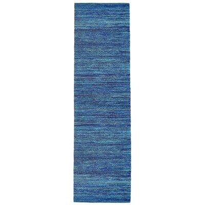 Sari Silk Handmade Blue Area Rug Rug Size: Runner 26 x 12