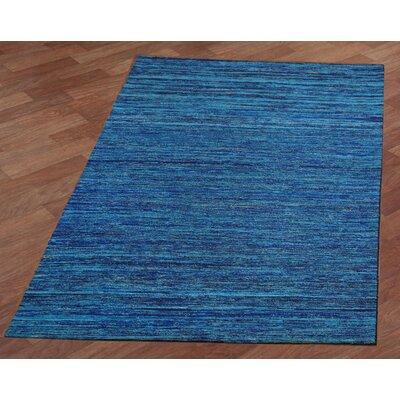 Sari Silk Handmade Blue Area Rug Rug Size: 5 x 8