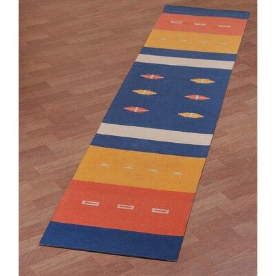 Sedona Hand-Woven Blue Area Rug Rug Size: Runner 26 x 12