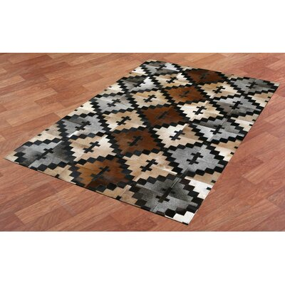 Matador Hand-Woven Brown/Tan Area Rug Rug Size: 5 x 8