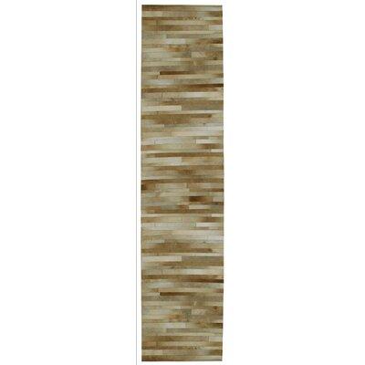 Matador Hand Woven Tan Area Rug Rug Size: Runner 26 x 12