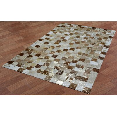 Matador Hand-Woven Brown/Tan Area Rug Rug Size: 4 x 6