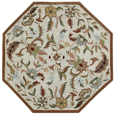 Traditions Hand-Tufted Brown Area Rug Rug Size: Octagon 8