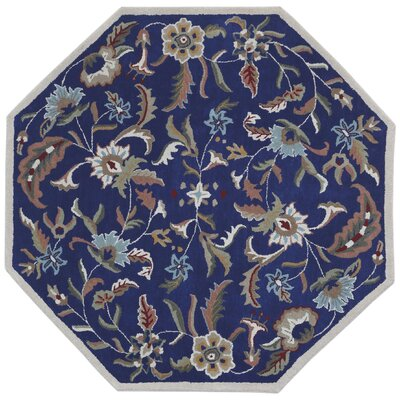 Traditions Hand-Tufted Blue Area Rug Rug Size: Octagon 8