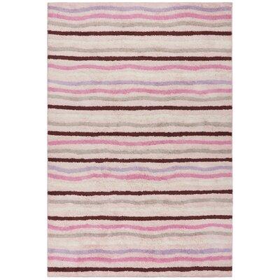 Carousel Pink Ziggy Area Rug Rug Size: 26 x 42