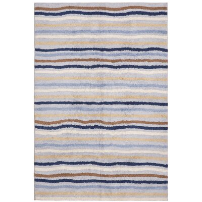 Carousel Blue Ziggy Area Rug Rug Size: 4 x 6