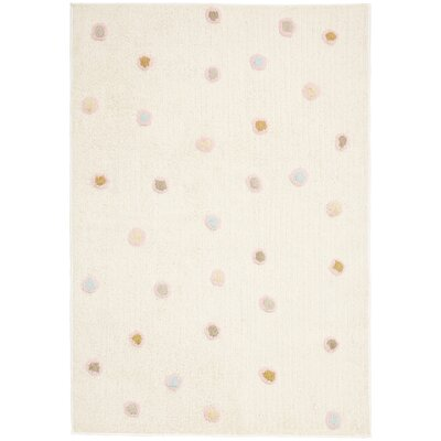 Carousel White Dots Area Rug Rug Size: 26 x 42