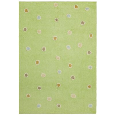 Carousel Green Dots Area Rug Rug Size: 26 x 42