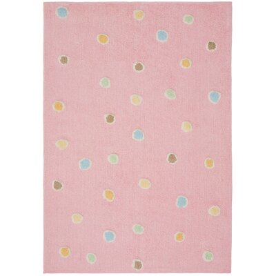 Carousel Pink Dots Area Rug Rug Size: 26 x 42