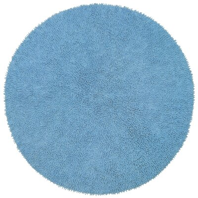 Baugh Light Blue Area Rug Rug Size: Round 5