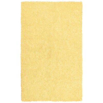 Shagadelic Yellow Rug Rug Size: Round 2