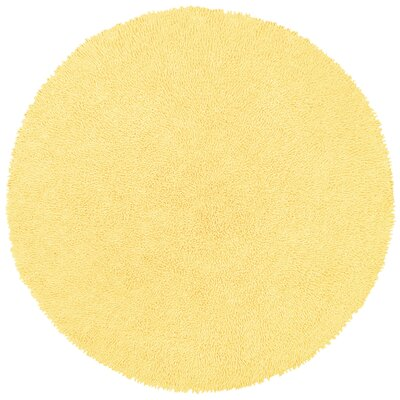 Baugh Yellow Rug Rug Size: Round 5