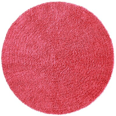 Baugh Pink Area Rug Rug Size: Round 5