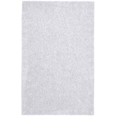 Shagadelic White Area Rug Rug Size: 2' x 5'