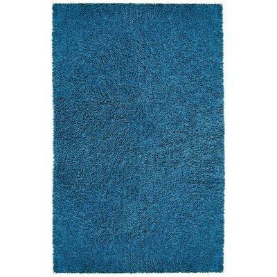 Shagadelic Blue Area Rug Rug Size: 2 x 2