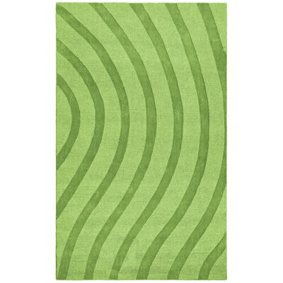 Transitions Light Green Waves Rug Rug Size: 5 x 8