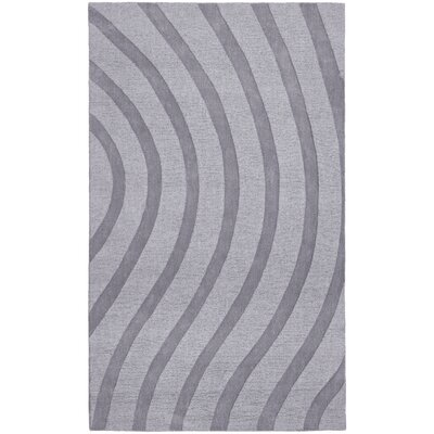 Transitions Light Gray Waves Rug Rug Size: 8 x 10