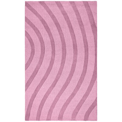 Transitions Light Pink Waves Rug Rug Size: Rectangle 8 x 10