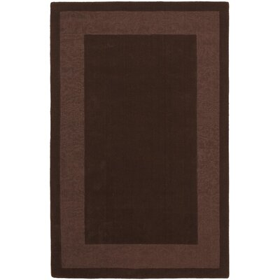 Transitions Chocolate Border Rug Rug Size: Rectangle 4 x 6